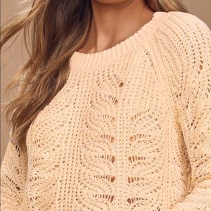 Chichwish eyelet cream sweater